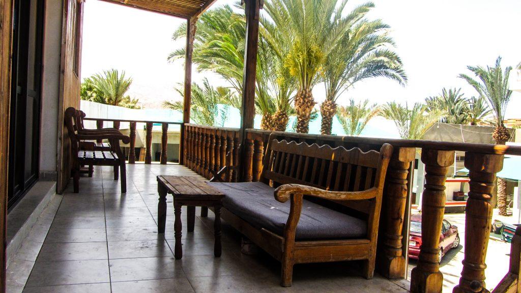 Deep Blue Hostel terrace